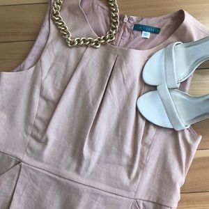 Pim + Larkin // Linen Blush Pink Sheath Dress - L